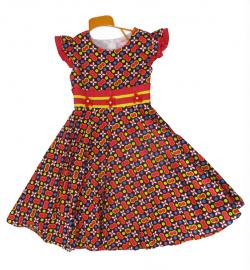 Printed Cotton Frock - (KC-030)