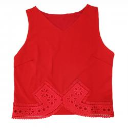 Dark Red Tank Top For Ladies - (KC-049)
