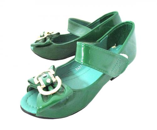 Green Fancy Sandal For Kid's - (KC-064)