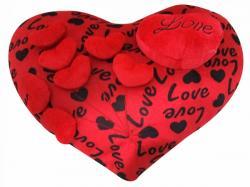 Love Printed Heart Shaped Pillow - Hangable - (KC-105)