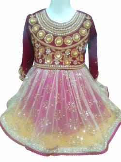 Pasni Set - Embroidered Velvet With Glittery Net & Laces - (JK-077)
