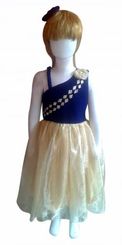 Blue Velvet With Laces & Golden Flare - (JK-084)