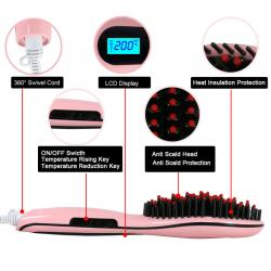 Electric Hair Straightener Brush Hair Straightener Comb - (TS-013)