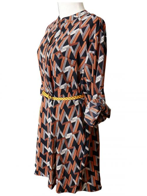 Fashionable Long Frock With Neck Design - (SAS-006)