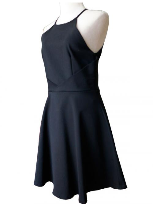 Black One Piece Dress - (SAS-009)