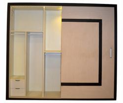 Off-white & Black Wardrobe - Per Sq Ft - (UI-002)