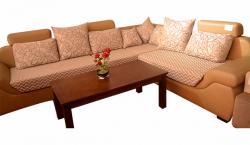Sofa Set High Density Foam & Rexin - (UI-007)