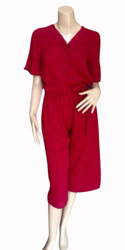 Red Jumpsuit For Ladies - (SAS-017)