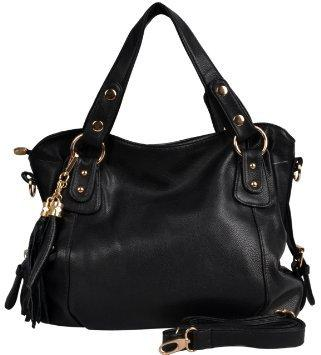 Black Colored Women Handbag - (WFCHB0042907)