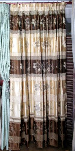 Silk Cotton Floral Printed Curtain - Per Meter - (OC-008)