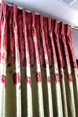 Black Out Floral Curtain - Per Meter - (OC-014)