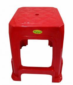 Red Plastic Household High Square Stool - (UT-005)
