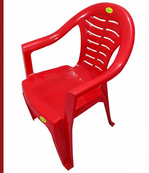 Comfortable Red Plastic Chair - Large - (UT-007)