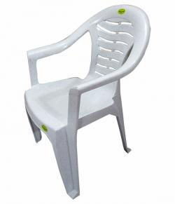 Comfortable Marble White Plastic Chair - Large - (UT-008)