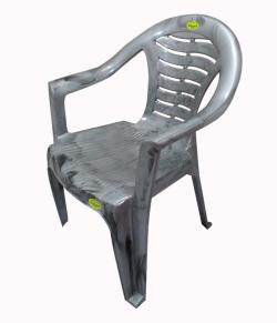 Comfortable Silver Doable Plastic Chair - Large - (UT-010)