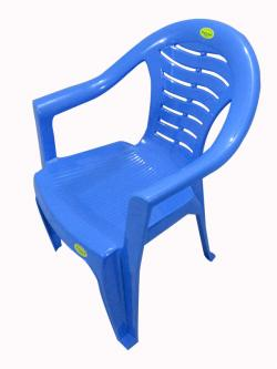 Comfortable Blue Plastic Chair - Large - (UT-011)