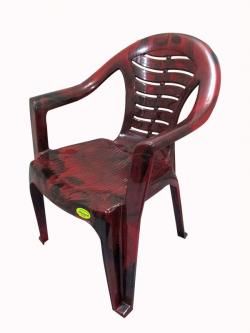 Comfortable Coffee Color Plastic Chair - Large - (UT-012)
