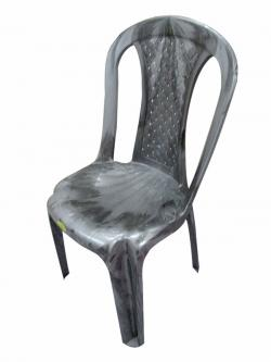 Armless Silver Double Plastic Chair - (UT-013)