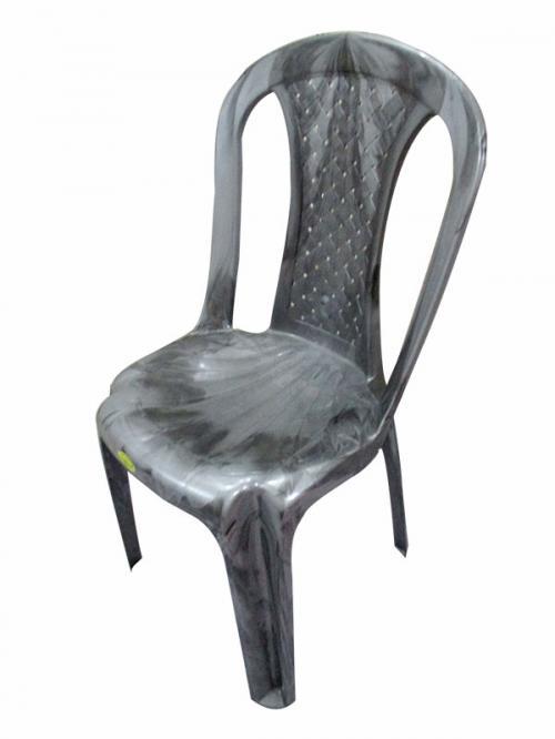 Armless Silver Double Plastic Chair - (UT-013)