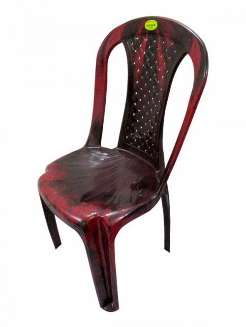 Armless Coffee Color Plastic Chair - (UT-014)