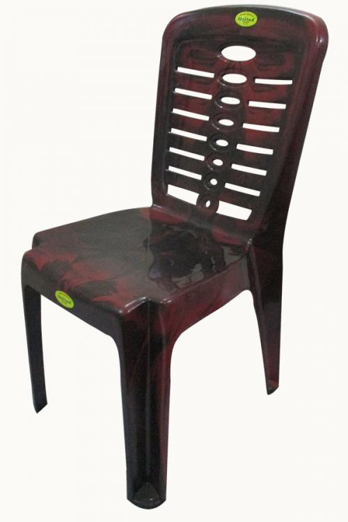 Super Armless Coffee Color Plastic Chair - (UT-016)
