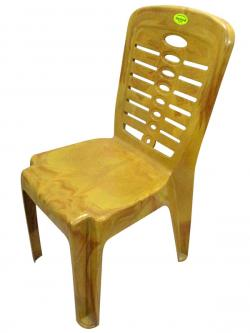 Super Armless Wooden Yellow Plastic Chair - (UT-017)