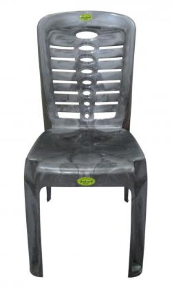 Super Armless Silver Double Plastic Chair - (UT-018)