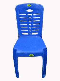 Super Armless Blue Color Plastic Chair - (UT-019)