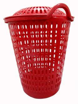 Laundry Basket In Red - (UT-029)
