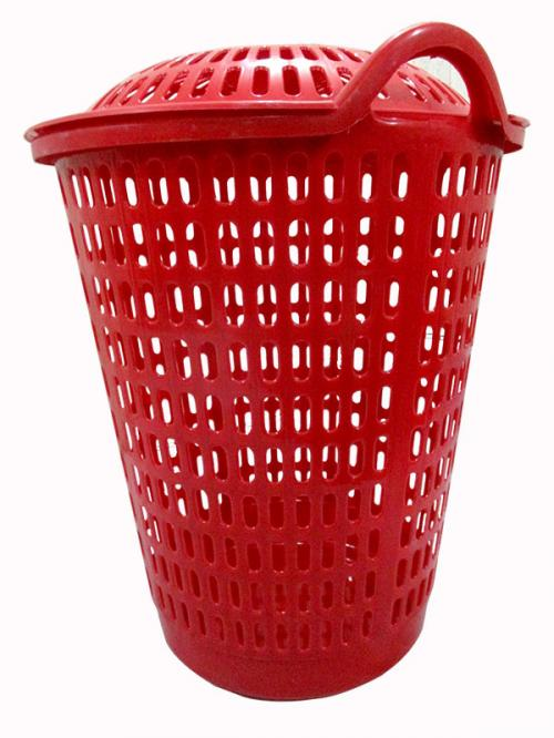 Laundry Basket In Red - (UT-029)