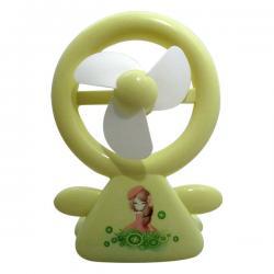 Cute Doll Printed USB Rechargeable Mini Fan - (GG-069)