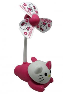 Cute Hello Kitty Rechargeable Fan With Clip - (GG-071)