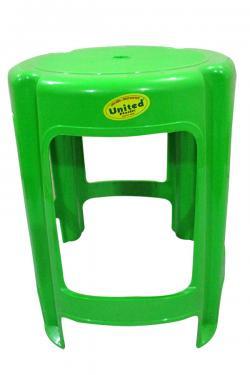 Green Plastic Household Round Stool - (UT-039)