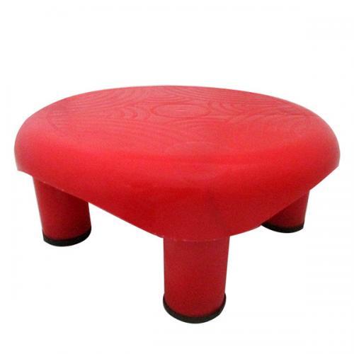 Red Color Bathroom Plastic Stool - (UT-025)