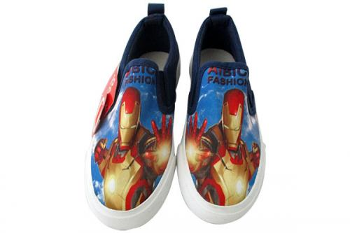 Iron Man Printed Vans Style Shoes For Kids - (CN-002)