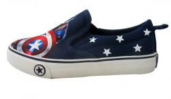 Captain America Printed Vans Style Shoes For Kids - (CN-003)