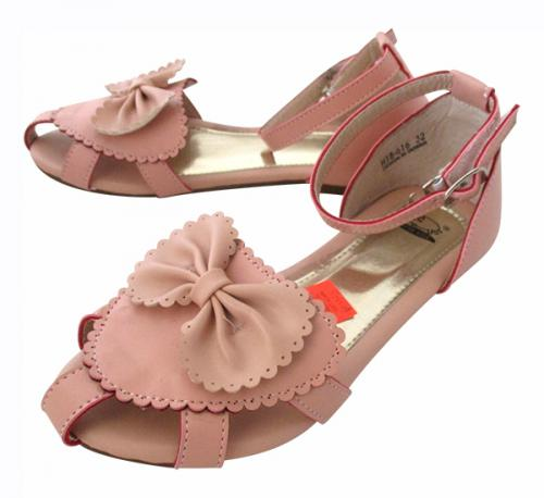 Pink Fashionable Flat Sandal For Kids - (CN-009)
