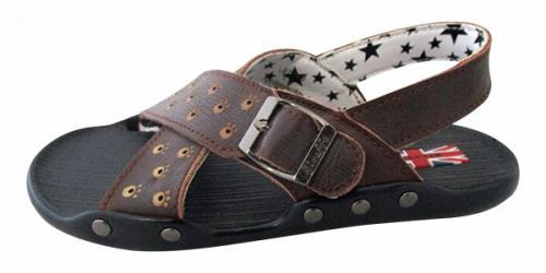 Giraffe Leather Sandal For Kids - (CN-026)