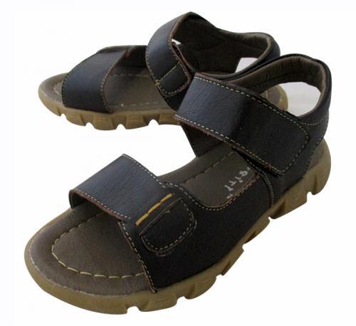 Leather Flat Sandal For Kids - (CN-027)