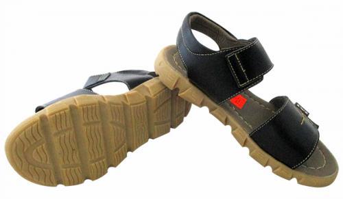 Leather Flat Sandal For Kids - (CN-028)