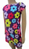 Purple Floral Frock For Kids - (CN-044)