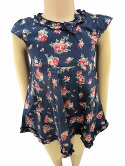 Blue Floral Frock For Kids - (CN-045)