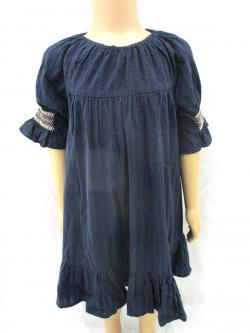 Blue Cotton Outwear For Kids - (CN-048)