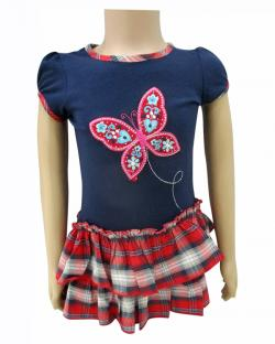 Butterfly Printed Frock For Kids - (CN-057)