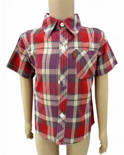 Red Check Shirt For Kids - (CN-058)