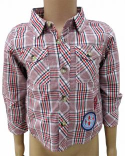 Red Check Half Shirt For Kids - (CN-060)