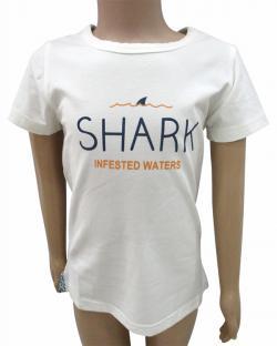 Shark Printed White T-Shirt For Kids - (CN-061)