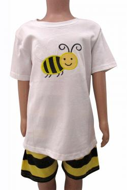 Bee Printed Dress Set For Kids - (CN-065)
