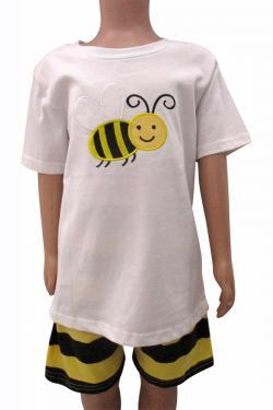 Bee Printed Dress Set For Kids - (CN-065)