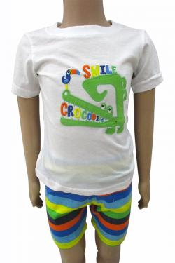 Smile Crocodile T-Shirt Set For Kids -(CN-067)